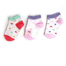 Kedicik 3'lü Patik Çorap