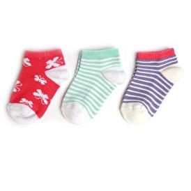 Kelebek 3'lü Patik Çorap