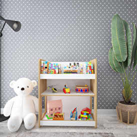 Martı Multi-Purpose Montessori Toy Collection and Bookcase Unit