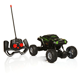 Rechargeable Full Function Illuminated Green Off-Road Vehicle 1:24