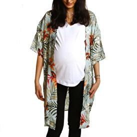 Babymom Karışık Desenli Kimono Hırka