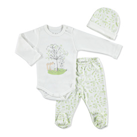Forest Friends Body-Booties Bottom-Hat