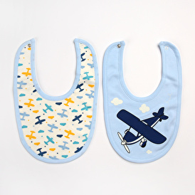 Fun Printed Patterned Baby Apron/Bib 2 pcs