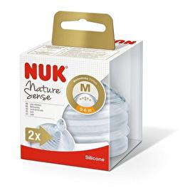 Nature Sense Silicone Bottle Nipple 6-18 Months Size S 2 pcs