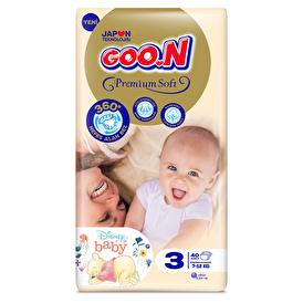 Premium Soft Baby Diaper Size 3 Jumbo Pack 7-12 kg 40 pcs