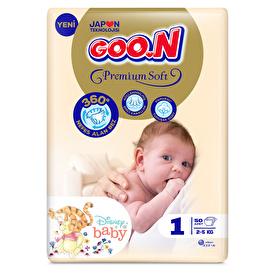 Bebek Bezi Premium Soft Yenidoğan 1 Beden Jumbo Paket 60 Adet 2-5kg