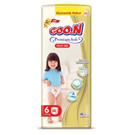 Külot Bez Premium Soft 6 Beden Süper Jumbo Paket 30 Adet 15-25 kg