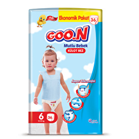 Külot Bez Mutlu Bebek 6 Beden Süper Jumbo Paket 36 Adet 15-25  kg