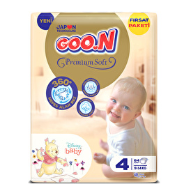 Bebek Bezi Premium Soft 4 Beden Fırsat Paketi 64 Adet 9-14 kg