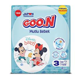 Bebek Bezi Mutlu Bebek 3 Beden Fırsat Paketi 100 Adet 7-12 kg