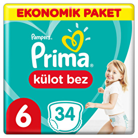 Baby Diapers Size 6 Extra Large Economic Pack 15+kg 34 pcs