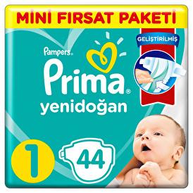 Bebek Bezi Aktif Bebek 1 Beden Yenidoğan Standart Paket 2-5 kg 44 Adet