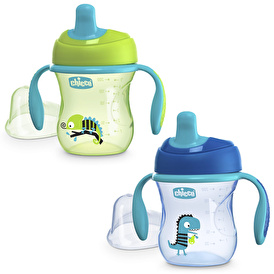 Assorted Semi Soft Spout Training Cup 200 ml 6 M + Boy