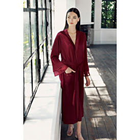 Long Sleeve Wide Form Dressing Gown with Belt