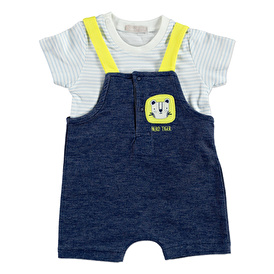 Summer Baby Boy Safari Adventure Short Sleeve Dungarees T-shirt 2 pcs Set