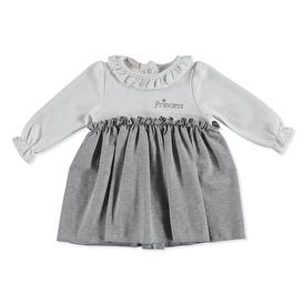 Kış Prenses Baskılı Bebek Elbise