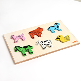 baby toys Wooden Animals Baby Puzzle