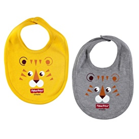 Printed Baby Feeding Bib 2 pcs Lion