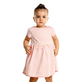 Summer Baby Girl Vual Short Sleeve Crew-Neck Dress