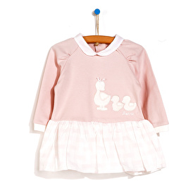 Duck Embroidered Baby Dress