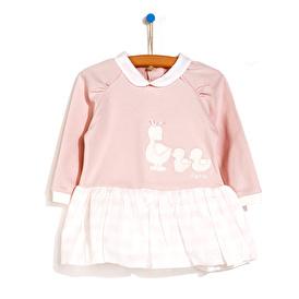 Kız Bebek Ördek Nakışlı Elbise