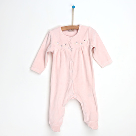 Flower Embroidered Baby Romper