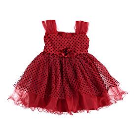 Yaz Flok Baskı Kız Bebek Elbise