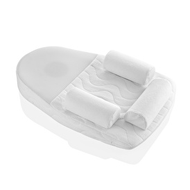 Reflux Baby Wedge and Flat Head Pillow with Cherry Pits - White
