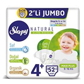 Natural Baby Diaper Maxi Plus 4+ Size 52 pcs