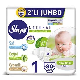 Natural Baby Diaper Newborn 1 Size 80 pcs
