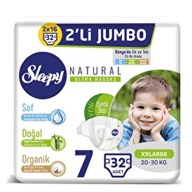 Natural Baby Diaper XXL 7 Size 32 pcs