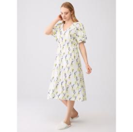Çiçekli Elbise Pijama Takımı