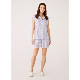 Lila Takım Pijama Takımı