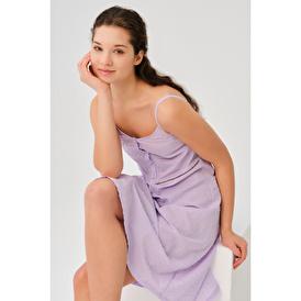İp Askılı Lila Pijama Takımı