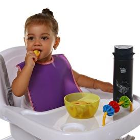 Peva Bebek Mama Önlüğü 2'li Pembe-Mor