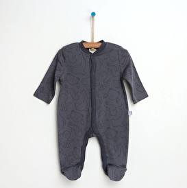 Organic Animals Footed Overalls
