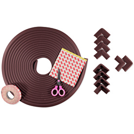 10 Meters Edge and 10 Pieces Corner Guards - Brown