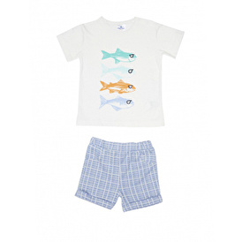 Summer Baby Boy Cotton Short Sleeve T-shirt Short 2 pcs Set