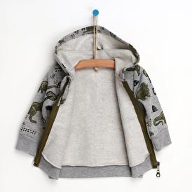 Dınosaur Frıends Kapüşonlu Bebek Sweatshirt