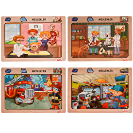 Wooden Crafts Educational Puzzle Set of 4