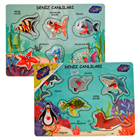 Wooden Keeping Sea Creatures Set of 2