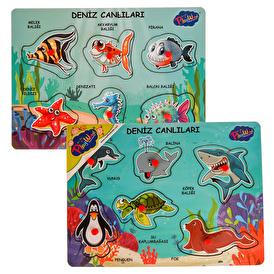 Ahşap Tutmalı Deniz Canlıları 2'li Set