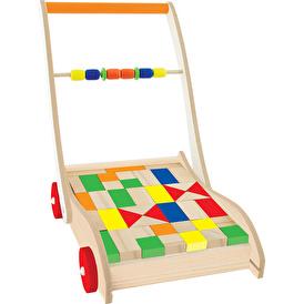 Playwood Ahşap Eğitici Bloklu llk Arabam