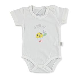 Summer Baby Boy Grow Up Supreme Short Sleeve Crew-Neck Bodysuit