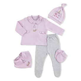 Lilac Unicorn Baby Pack Of 5 Hospital Packs