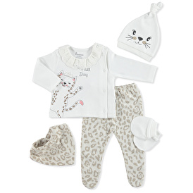 Leopard Baby Chic 5-Hanger Hospital Pack
