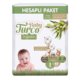 Sleepy Natural Baby Diapers Size 3 Midi 4-9 kg 34 pcs
