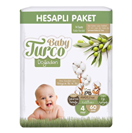Sleepy Natural Baby Diapers Size 4 Maxi 7-14 kg 30 pcs