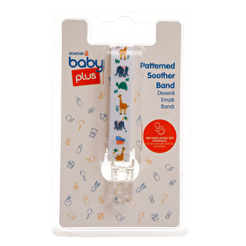 Wee Baby Zoo Patterned Assorted Easy-To-Use Pacifier Strap