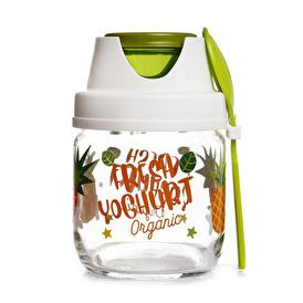 Desenli Meyve-Salata-Yoğurt Saklama Kavanozu 425ml